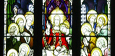 Look at the Stained Glass at Holy Family RC Parish , Southport.